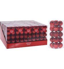 Χριστουγεννιάτικες Μπάλες Κόκκινες - Σετ 20 τεμ. (4cm)