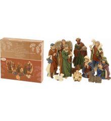 Χριστουγεννιάτικο Σετ Φάτνης με 11 Κεραμικές Φιγούρες