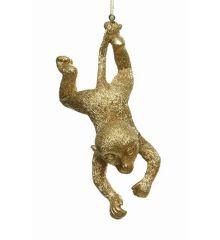 Χριστουγεννιάτικη Μαϊμού Χρυσή (13cm)
