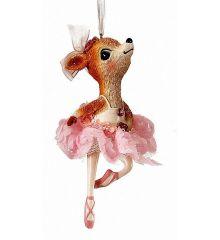 Χριστουγεννιάτικη Μπαλαρίνα Ροζ (13cm)