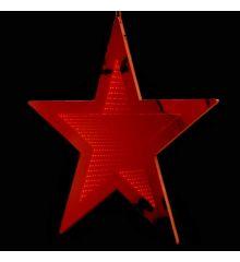 Χριστουγεννιάτικο Αστέρι Κόκκινο με 3D Φωτισμό LED (30cm)