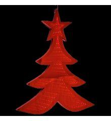 Χριστουγεννιάτικο Δεντράκι Κόκκινο με 3D Φωτισμό LED (20cm)