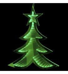Χριστουγεννιάτικο Δεντράκι Πράσινο με 3D Φωτισμό LED (20cm)