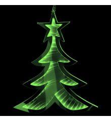 Χριστουγεννιάτικο Δεντράκι Πράσινο με 3D Φωτισμό LED (30cm)