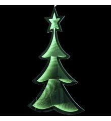 Χριστουγεννιάτικο Δεντράκι Πράσινο με 3D Φωτισμό LED (67cm)
