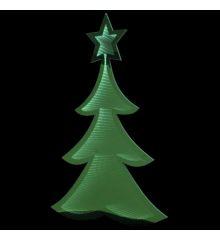 Χριστουγεννιάτικο Δεντράκι Πράσινο με 3D Φωτισμό LED (110cm)