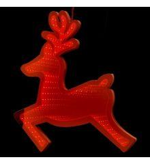 Χριστουγεννιάτικο Ελάφι Κόκκινο με 3D Φωτισμό LED (40cm)