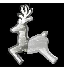 Χριστουγεννιάτικο Ελάφι Ασημί με 3D Φωτισμό LED (40cm)