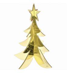 Χριστουγεννιάτικο Διακοσμητικό Ακρυλικό Δεντράκι 3D Χρυσό (30cm)