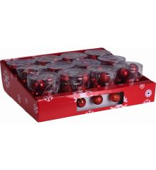 10 Φωτάκια LED Μπαταρίας με Κόκκινες Μπαλίτσες