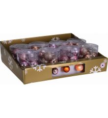 10 Φωτάκια LED Μπαταρίας, με Μπαλίτσες - 2 Χρώματα