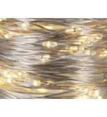20 Λευκά Θερμά Φωτάκια LED Copper Μπαταρίας (1m)