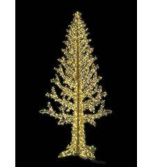 Χριστουγεννιάτικο Φωτιζόμενο Δέντρο CRYSTAL GOLD με 640 Flash LED (2,4m)
