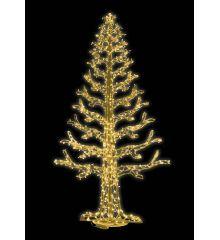 Χριστουγεννιάτικο Φωτιζόμενο Δέντρο CRYSTAL GOLD με 684 Flash LED (4m)