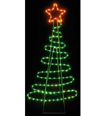 Χριστουγεννιάτικο Δέντρο με 5m Πολύχρωμο Φωτοσωλήνα LED (112cm)