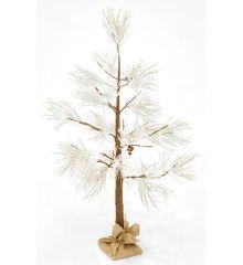 Χριστουγεννιάτικο Φωτιζόμενο Δέντρο Χιονισμένο σε Σακί με 48 LED (1,2m)