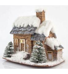 Χριστουγεννιάτικο Σπιτάκι Χιονισμένο με 3 LED (23cm)