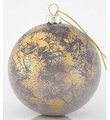 Χριστουγεννιάτικη Μπάλα Χρυσή Αντικέ (8cm)