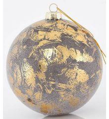 Χριστουγεννιάτικη Μπάλα Χρυσή Αντικέ (10cm)