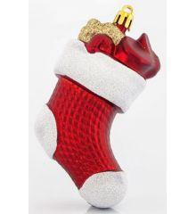 Χριστουγεννιάτικη Κάλτσα Κόκκινη (11cm)