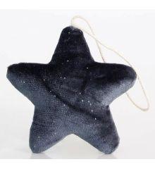 Χριστουγεννιάτικο Αστέρι Βελούδινο Μπλε (11cm)