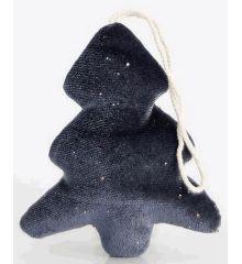 Χριστουγεννιάτικο Δεντράκι Βελούδινο Μπλε (13cm)
