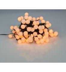 100 Gold Θερμά Φωτάκια LED με Μπαλίτσες και 8 Προγράμματα