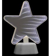 Χριστουγεννιάτικο Αστέρι Λευκό με 3D Φωτισμό LED (18cm)