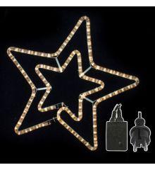 Χριστουγεννιάτικo Αστέρι με 3m Λευκό Θερμό Φωτοσωλήνα (3m)