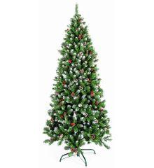 Χριστουγεννιάτικο Χιονισμένο Δέντρο BERRY SNOWY με Κουκουνάρια (2,4m)