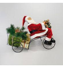 Χριστουγεννιάτικος Άγιος Βασίλης - Τρίκυκλο  (150cm)