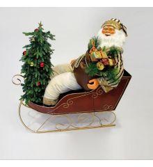 Χριστουγεννιάτικος Άγιος Βασίλης - Έλκηθρο (150cm)