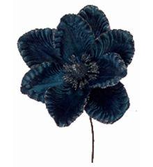 Χριστουγεννιάτικο Λουλούδι Μπλε Μανώλια (25cm)