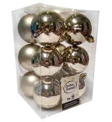 Χριστουγεννιάτικες Μπάλες Σαμπανιζέ - Σετ 12 τεμ. (6cm)