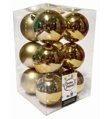 Χριστουγεννιάτικες Μπάλες Χρυσές - Σετ 12 τεμ. (6cm)