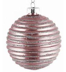 Χριστουγεννιάτικες Μπάλες Γυάλινες Μωβ - Σετ 6 τεμ. (10cm)