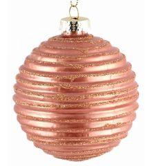 Χριστουγεννιάτικες Μπάλες Γυάλινες Μπρονζέ - Σετ 6 τεμ. (10cm)