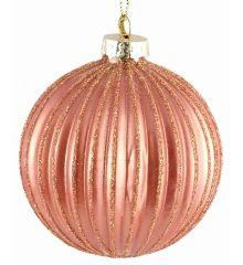 Χριστουγεννιάτικες Μπάλες Γυάλινες Μπρονζέ - Σετ 6 τεμ. (8cm)