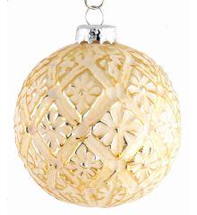 Χριστουγεννιάτικες Μπάλες Γυάλινες Χρυσές - Σετ 3 τεμ. (10cm)