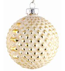 Χριστουγεννιάτικες Μπάλες Γυάλινες Χρυσές - Σετ 3 τεμ. (8cm)