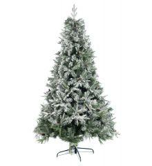 Χριστουγεννιάτικο Χιονισμένο Δέντρο ALASKA με Κουκουνάρια (2,4m)