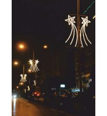 Χριστουγεννιάτικο Επιστύλιο Αστέρι με Φωτοσωλήνα LED (2.55m)