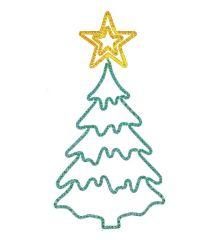 Χριστουγεννιάτικo Επιστύλιo Δέντρο με Φωτοσωλήνα (2.1m)