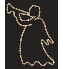 Χριστουγεννιάτικος Επιστύλιος Άγγελος με Φωτοσωλήνα (1.5m)