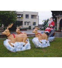 Χριστουγεννιάτικος Φωτιζόμενος Άγιος Βασίλης με Έλκηθρο