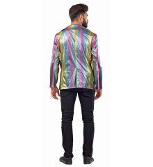 Αποκριάτικη Στολή Disco Σακάκι Μεταλιζέ Πολύχρωμο
