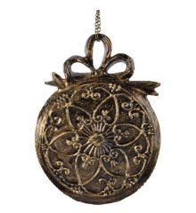 Χριστουγεννιάτικο Ρολόi Χρυσό - 2 Σχέδια (13cm)