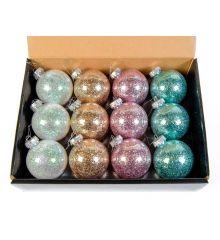 Χριστουγεννιάτικη Μπάλα Μεταλλιζέ- 4 Χρώματα (8cm)