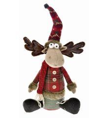 Χριστουγεννιάτικος Διακοσμητικός Τάρανδος Καθιστός  (36cm)