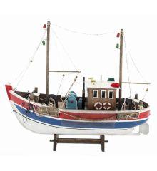 Χριστουγεννιάτικο Ξύλινο Διακοσμητικό Παραδοσιακο Καράβι (45cm)